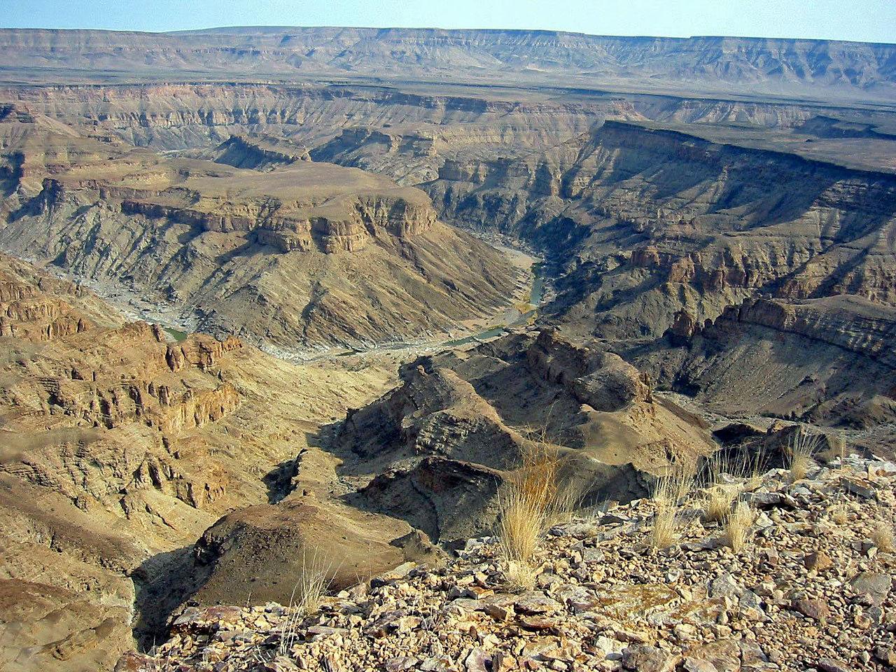Canyon de la Fish River en Namibie