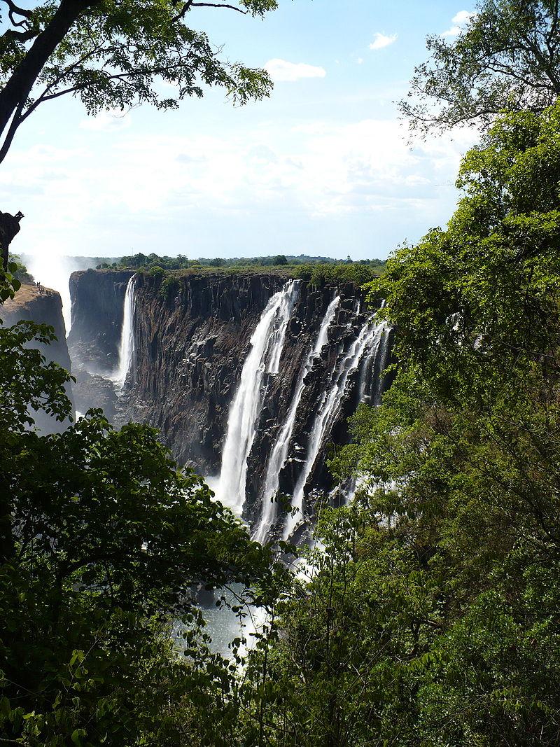 Chutes Victoria ou Victoria Falls en Zambie