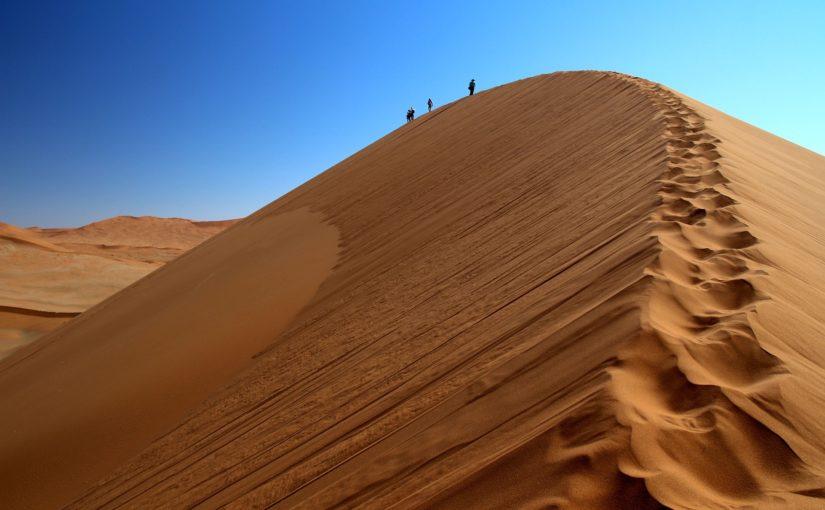 Les dunes de Sossusvlei dans le désert du Namib en Namibie