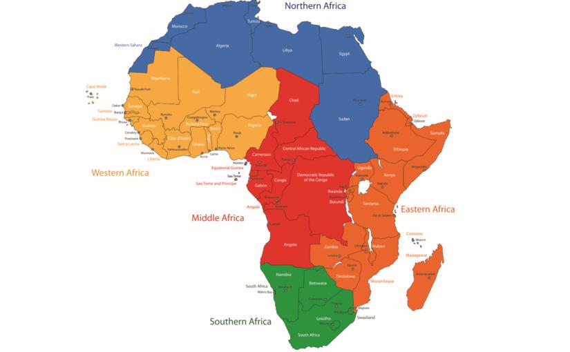 Carte Afrique Capitales