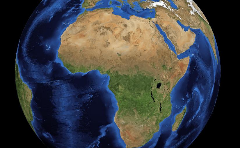 Globe sur l'Afrique